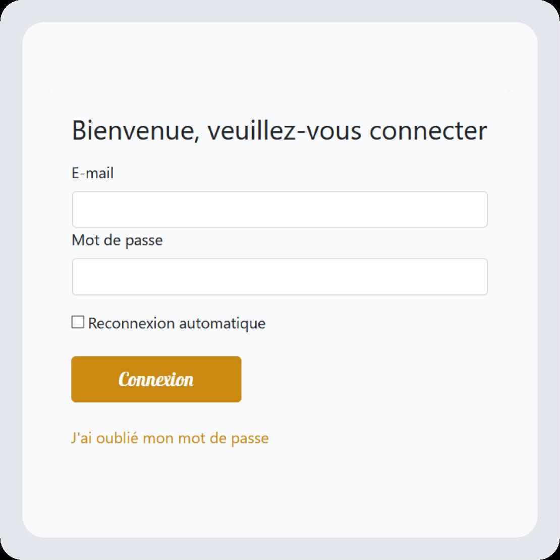Application web professionnelle